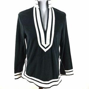 Boston Proper Sweater Tunic V-Neck Vented Flare Sl